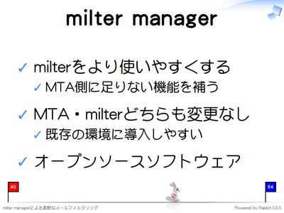 milter manager