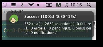 Mac OS X上での通知