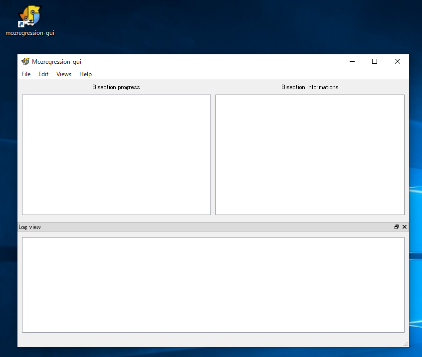 mozregression-guiのメイン画面